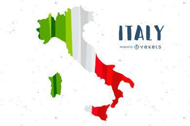 Design de país de bandeira da Itália