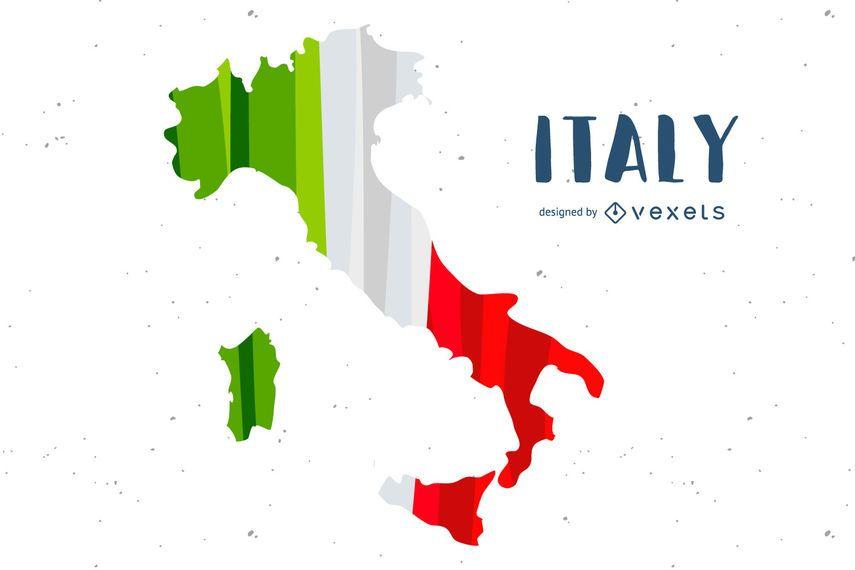 Diseño del país de la bandera de Italia