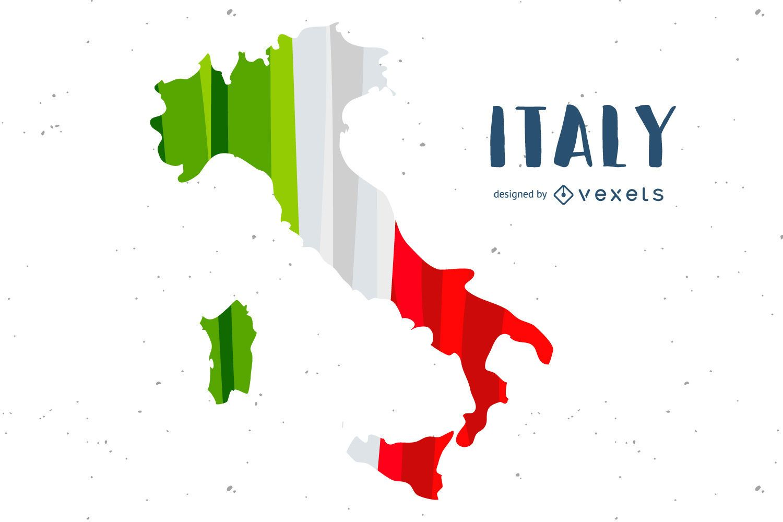 Design do país com bandeira da Itália