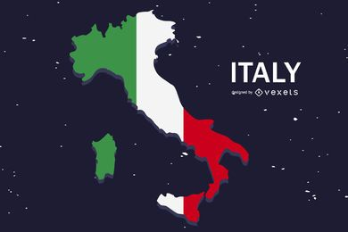 Italy Flag Flat Country Design