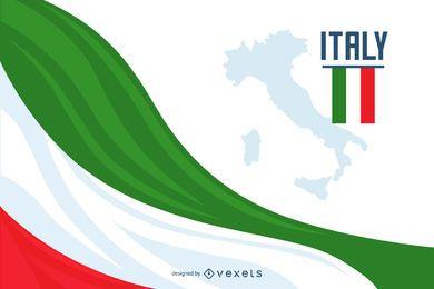 Diseño de fondo de bandera de Italia