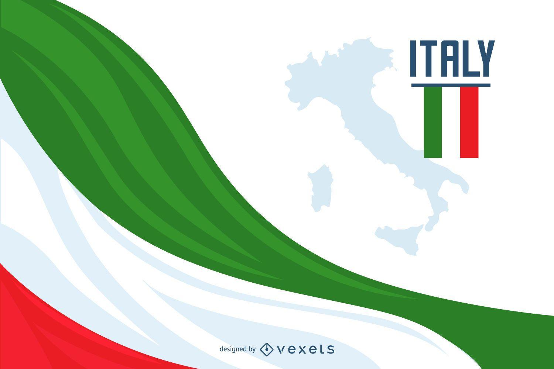 Diseño de fondo de la bandera de Italia