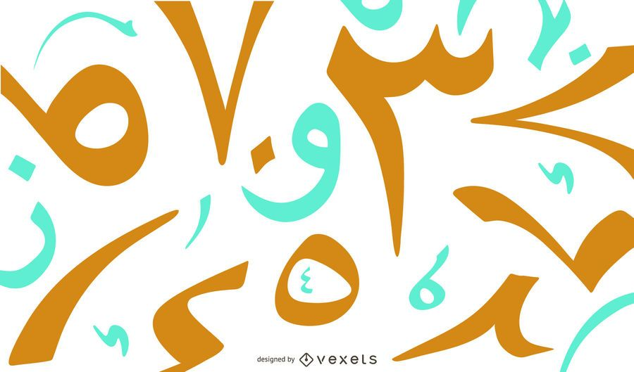 Arabic Numbers Background Design