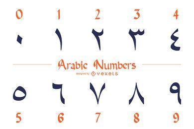 Paquete de diseño de números arábigos