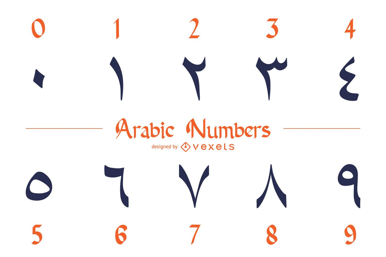 Arabic Numbers Design Pack