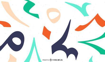 Números árabes fundo colorido
