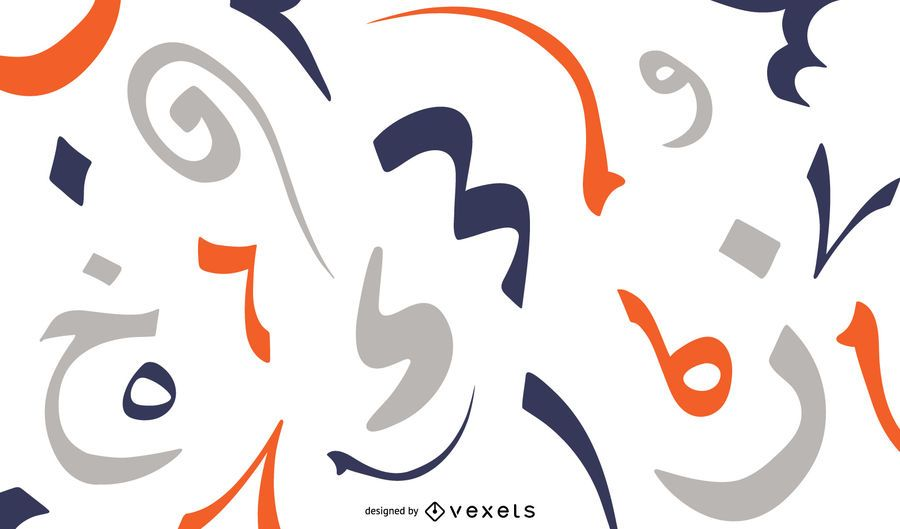Arabic numbers simple background design