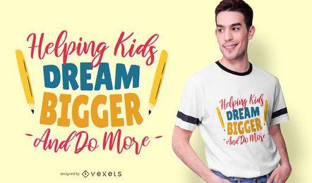 Diseño de camiseta de texto de letras de profesor