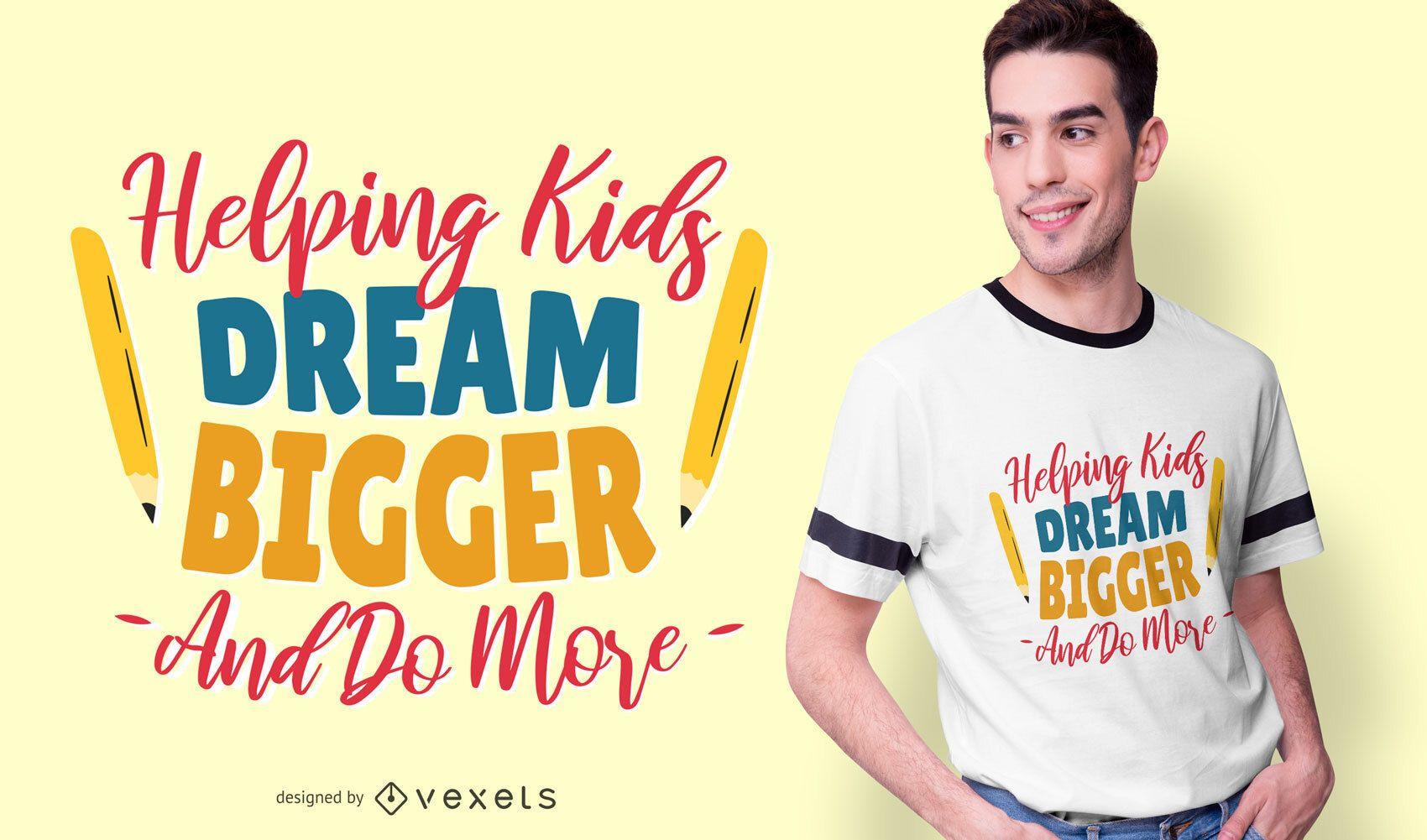 Lehrer-Beschriftungstext-T-Shirt Design