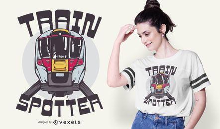 Projeto do t-shirt do observador do trem