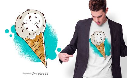 Chocolate Chip Ice Cream T-shirt Design