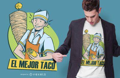Mejor diseño de camiseta de cita de taco