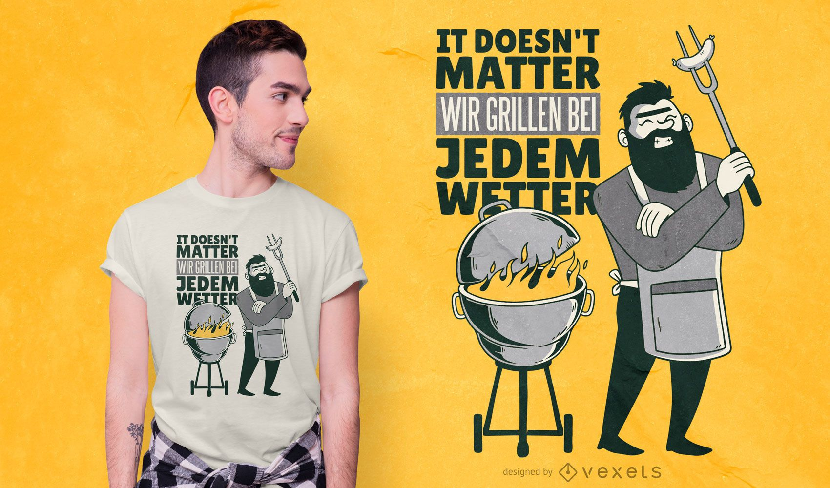BBQ German Quote T-shirt Design