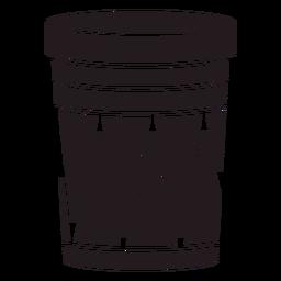 Instrumento de tambor aborigen negro