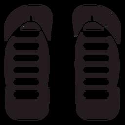Aboriginal flip flops black
