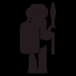 Hombre aborigen guerrero negro