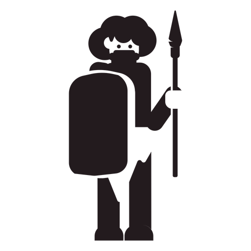 Hombre aborigen guerrero negro Transparent PNG