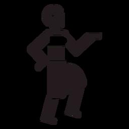 Aboriginal woman dancing black