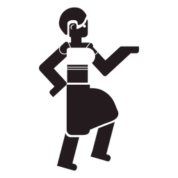 Mujer aborigen bailando negro