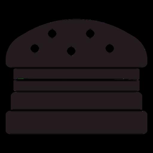 American burger black