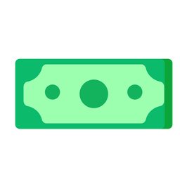 American dollar bill flat icon