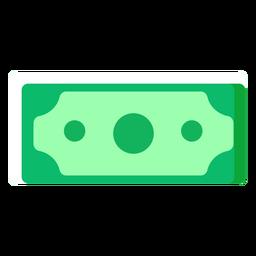 Ícone plano da nota de dólar americano