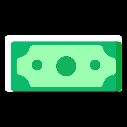 Icono plano de billete de dólar americano