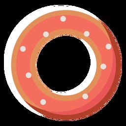 Flache Ikone des amerikanischen Donuts