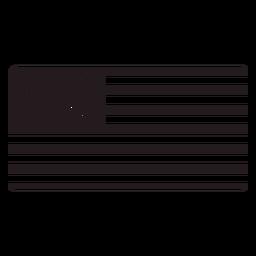 Bandera americana, negro