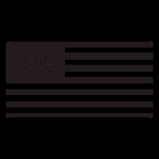 American flag black Transparent PNG