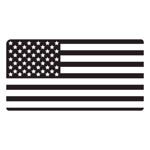 Bandera americana negro