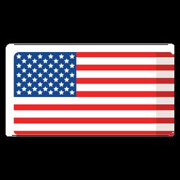 Ícone plano da bandeira americana