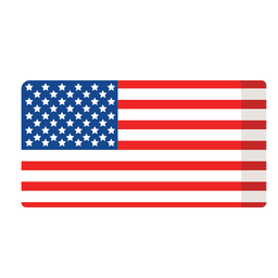 Icono plano de bandera americana