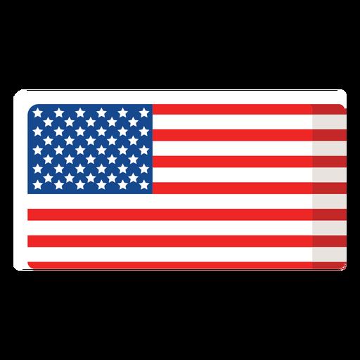 Icono plano de bandera americana Transparent PNG