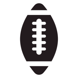 American football ball black