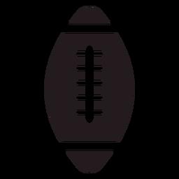 Bola de futebol americano preta