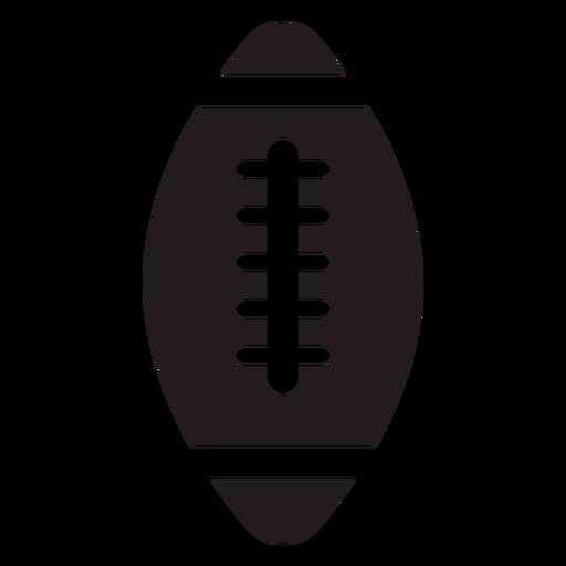 Bola de futebol americano preta Transparent PNG