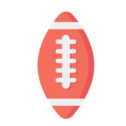 American football ball flat icon