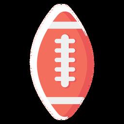 Ícone plano de bola de futebol americano
