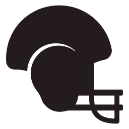 American football helmet black