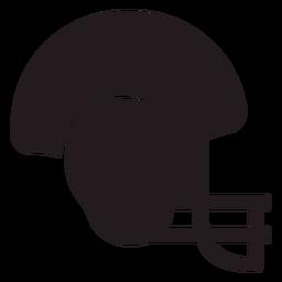 Capacete de futebol americano preto