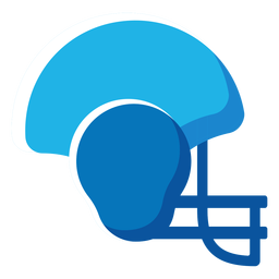 American football helmet flat icon football