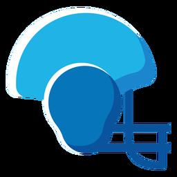 Capacete de futebol americano ícone plana futebol