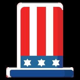 Cartola americana ícone plana