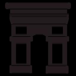 Arco del Triunfo negro