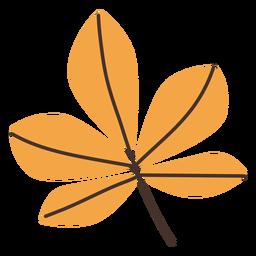 Desenho de folha de castanha outono