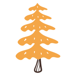 Autumn conifer tree cartoon