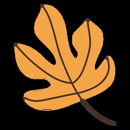 Desenho de folha de figueira outono