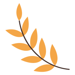 Autumn leaf branch cartoon
