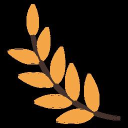 Desenho de ramo de folhas de outono